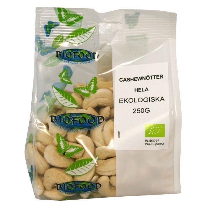 Biofood Cashewnötter Hela 250 g