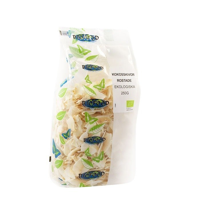 Biofood Kokosskivor Rostade Ekologiska 250 g