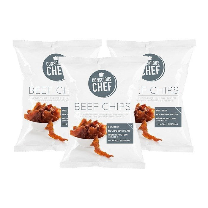 Conscious Chef 3 x Beef Chips 35 g