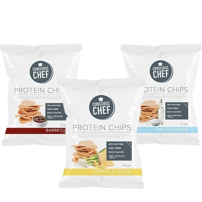 Conscious Chef 3 x Protein Chips 25 g