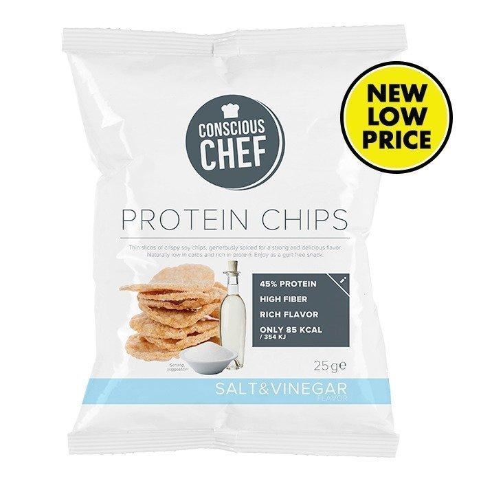 Conscious Chef Protein Chips 25 g Salt & Vinegar