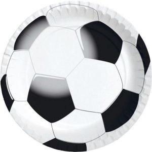 Duni Football Kartonkilautanen 22 Cm 10-Pakkaus