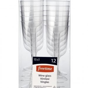 Freetime Viinilasi Muovi 15 Cl 12 Kpl