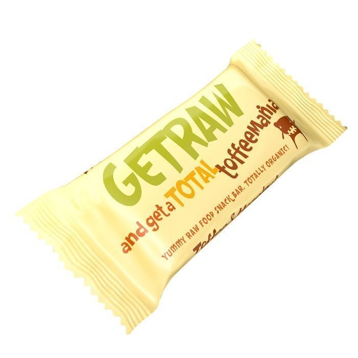 Getraw Toffee & Hazelnut Snack Bar 48 g