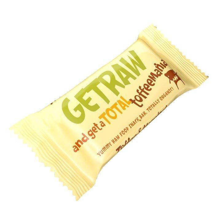 Getraw Toffee & Hazelnut Snack Bar 48 g