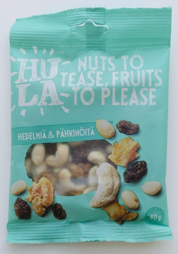 Hula Hedelmiä & Pähkinöitä Välipalapussi 60 G