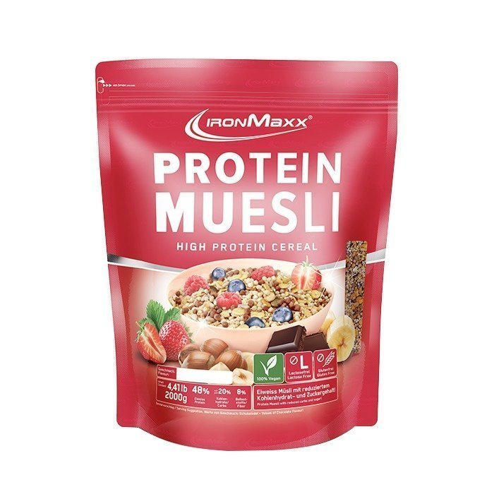 IronMaxx Protein Muesli 2000 g Strawberry