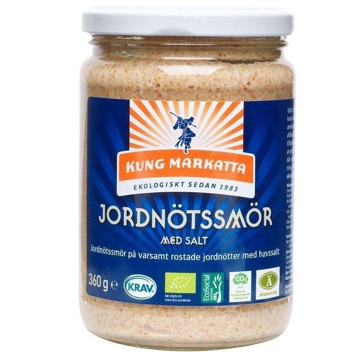 Kung Markatta Jordnötssmör med salt Luomu 360 g