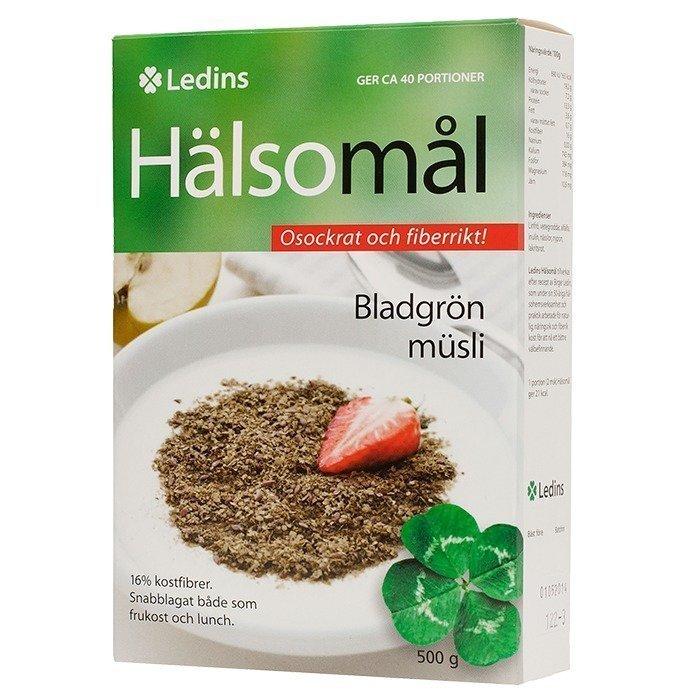 Ledins Hälsomål Lehtivihreä Mysli Makeuttamaton 500 g