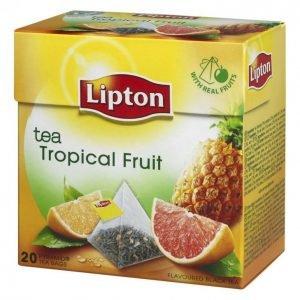 Lipton Tropical Fruit Teepussi Pyramidi 20 Kpl