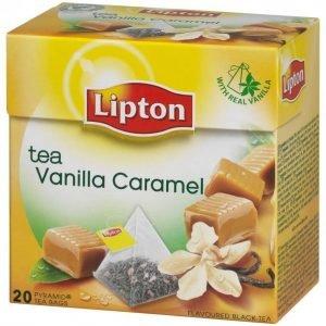 Lipton Vanilla Caramel Teepussi Pyramidi 20 Ps