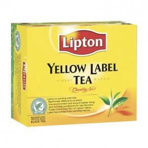 Lipton Yellow Label Teepussi 50 Kpl