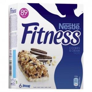 Nestle Fitness Cookie & Creme Viljapatukka 6x23