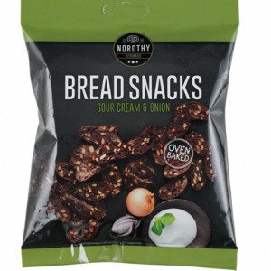 Nordthy Bread Snacks Sour Creme & Onion 75 G