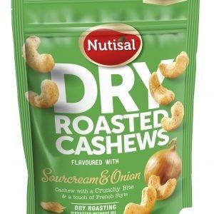 Nutisal Cashew Sourcream & Onion Maustetut Pähkinät 140 G