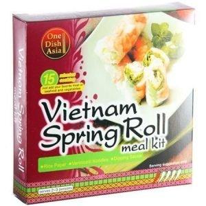 One Dish Asia Vietnamilaiset kevätrulla ateria-ainekset
