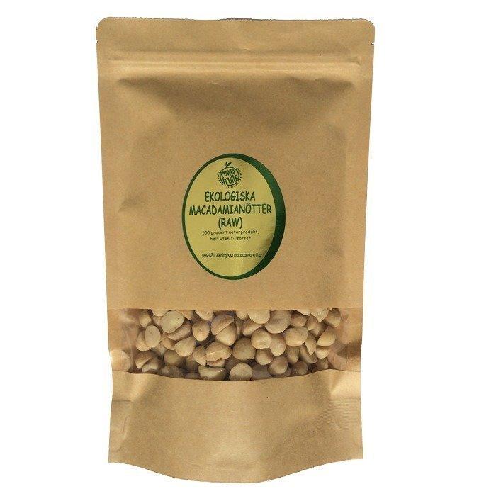 Powerfruits Raw Macadamia-pähkinät EKO 500 g
