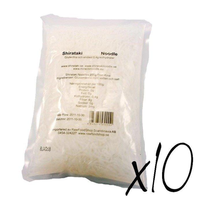 RawFoodShop 10 x Shirataki Noodle 200 g