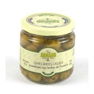 Vihreät oliivit Provencen yrteillä